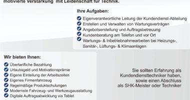 Technischer Leiter Kundendienst (m/w/d) gesucht!